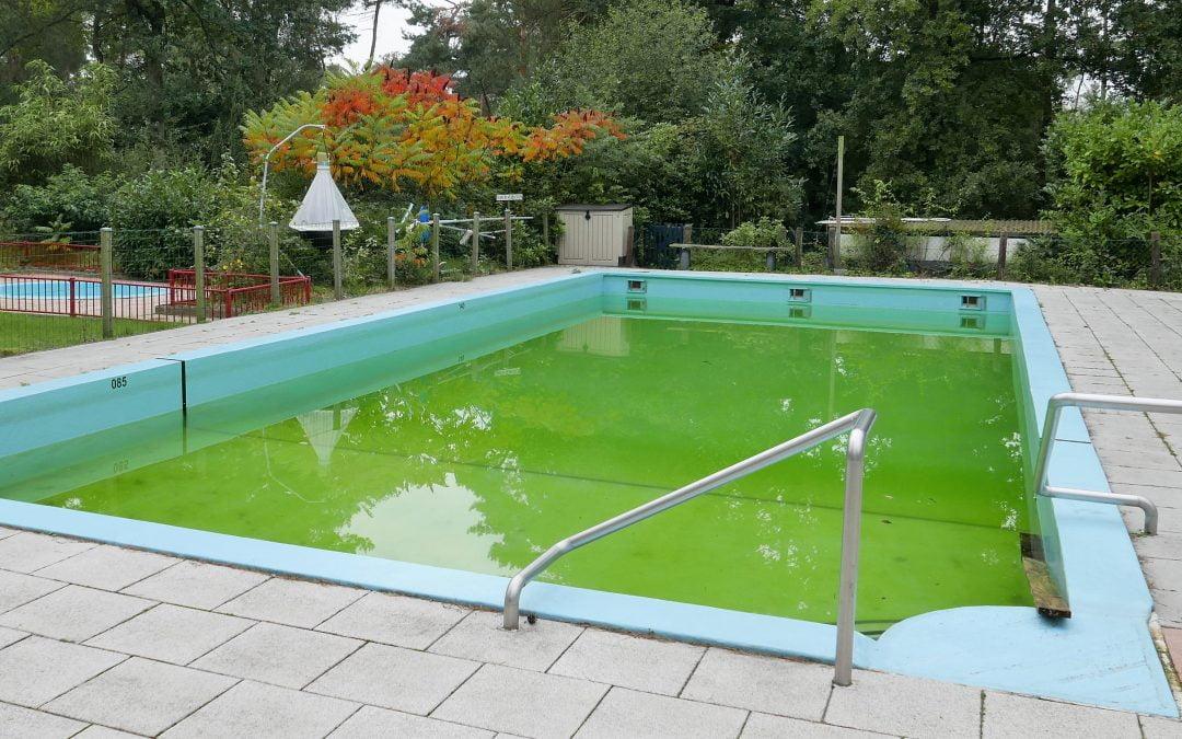 Zwembad met loopplankjes