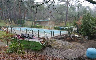 Renovatie zwembad, helpers gezocht.